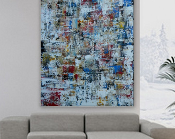 Extra Large Painting XXL, XL Large Huge Enormouse abstract Painting custom order wall art decor by Marcy Chapman grande dipinto