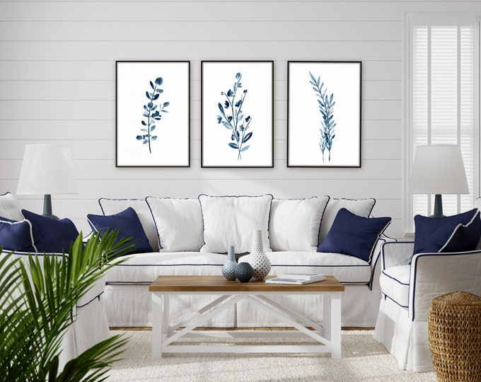 Botanical, floral farmhouse prints by Marcy Chapman, original prints by the artist, mixed media painting, floral wall art modern farmhouse