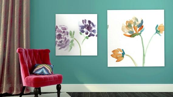 Large Custom order floral painting Flower artwork colorful flowers large painting xl painting