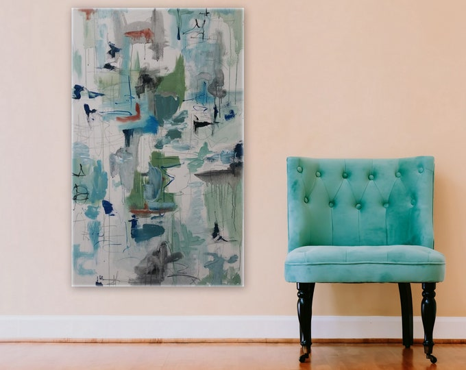 Large Abstract Modern Painting by Marcy Chapman Original artwork wall decor