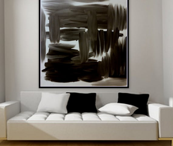 Sample Black and white abstract original painting on canvas custom order in any color