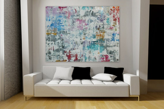 Extra Large modern painting wall art decor XXL, XL, HUGE Large original acrylic abstract modern  painting by Marcy Chapman ~ made to order
