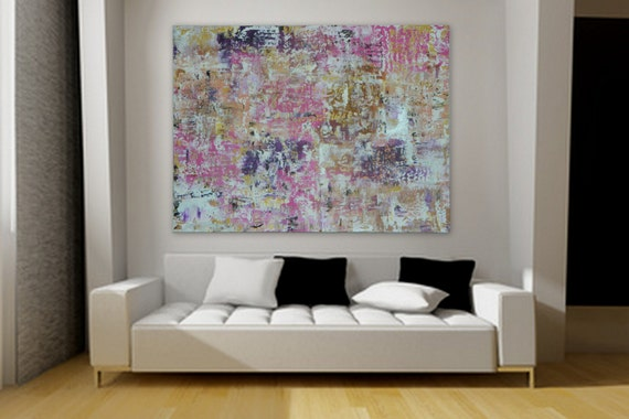"XL, Huge, Large Original Abstract Painting 46"" x 34"" rolled canvas painting by Marcy Chapman Extra Large Painting"