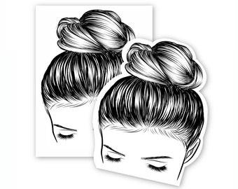 Printable Messy Bun Display Card for Ear warmer Headbands