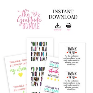 1.5 inches The Gratitude Bundle DIY Stickers or Tags Unlimited Printing Printable