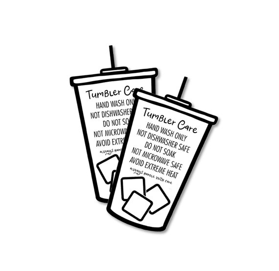 Tumbler Care Cards Ready to Ship Instruction Cards