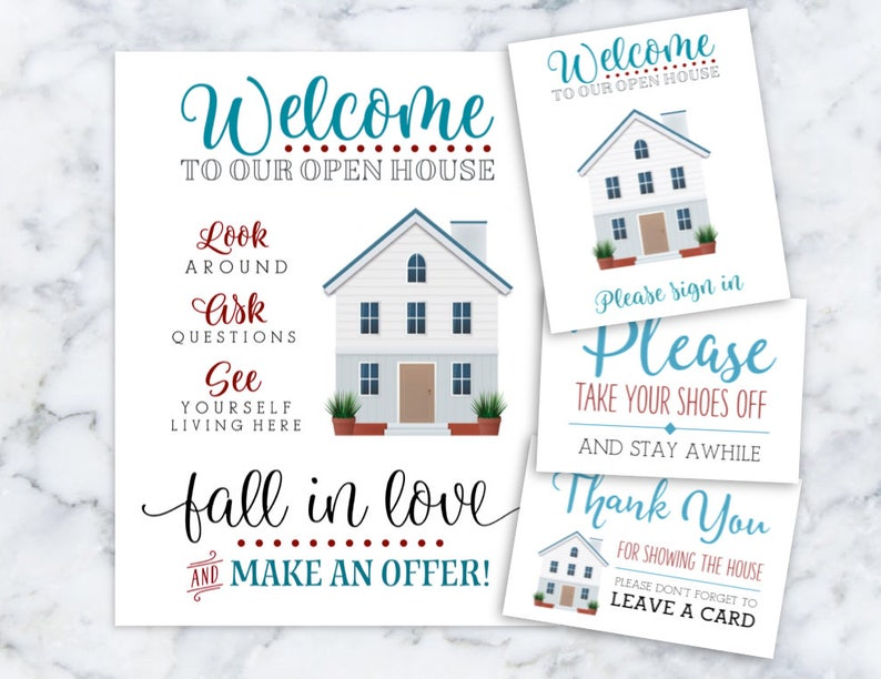 picture about Welcome to Our Open House Printable identify Real estate agent Welcome in the direction of Our Open up Home Printables Remember to Signal In just Remember to Take away Your Footwear Thank By yourself Go away Your Card Prompt Down load
