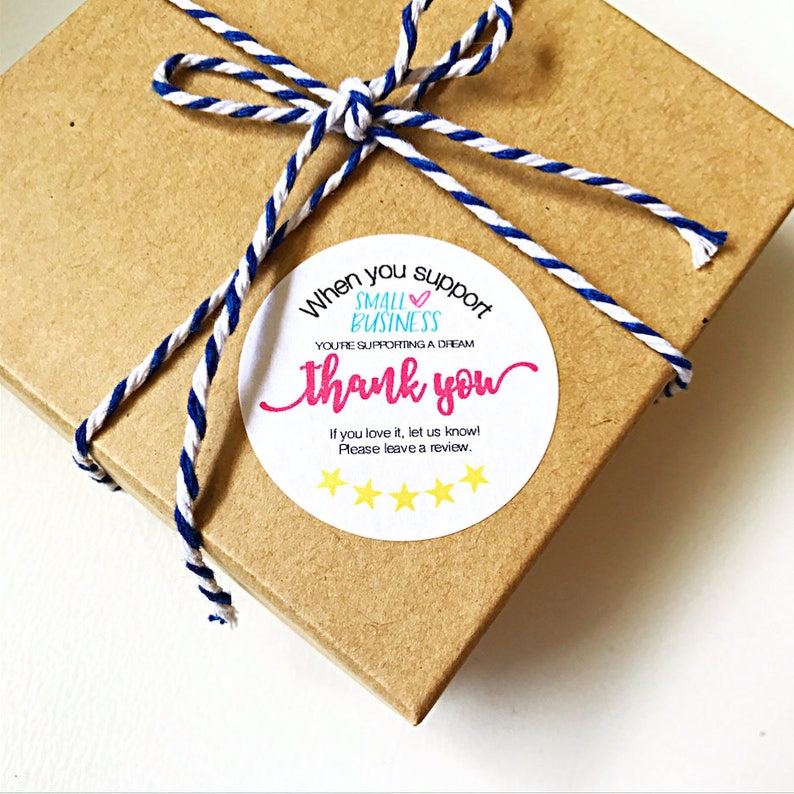 d0b24c50afebc When You Support Small Business | Packaging Stickers | Etsy Shop Review |  60 stickers - 1.5 inch stickers | Happy Mail Sticker TYS1
