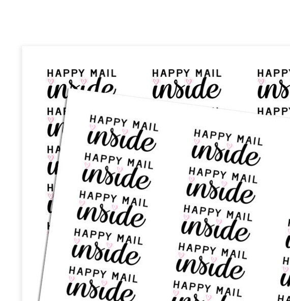 new happy mail inside small business sticker unlimited