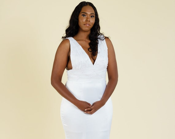 Floret Mermaid Gown | Plus Size Wedding or Formal Evening Dress