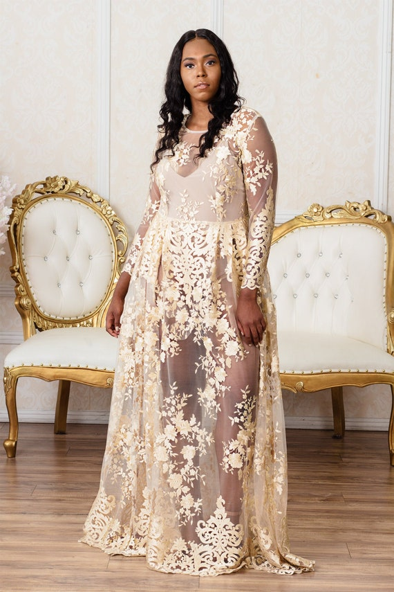 Flora Gown | Plus Size Wedding or Formal Evening Dress
