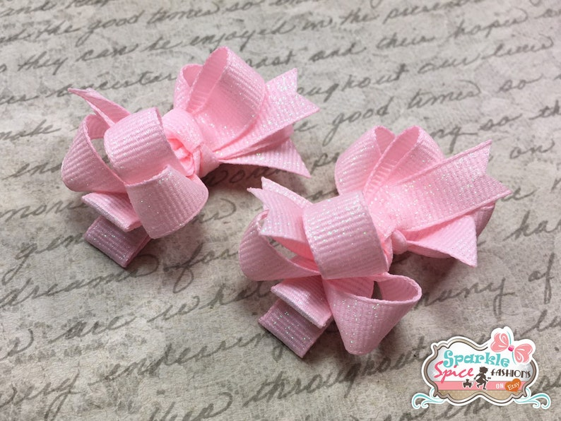 BROWN PINK DAZZLE GLITTER 5-5 1//2 INCH CUSTOM BOUTIQUE HAIR BOW CHOOSE CLIP
