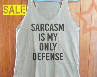 Sarcasm shirt graphic tank tumblr tank women top cool graphic tee funny saying shirts cute shirt singlet shirt grey tank top size S M L
