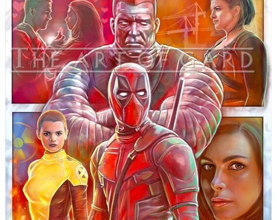 Deadpool Movie (collage) 11X17 High Quality Art Print