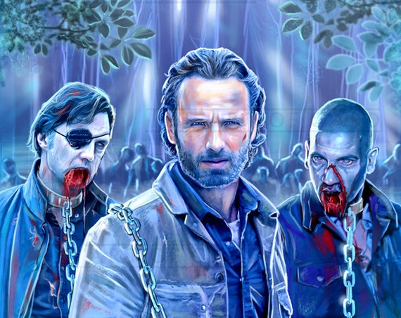 Ricks Chains... The Walking Dead Digital Drawing