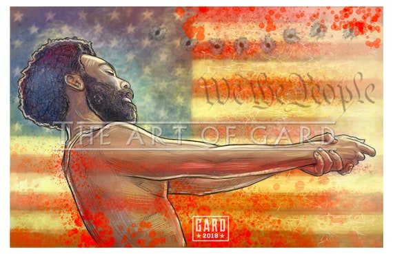 This is America Childish Gambino 11X17 Art Print