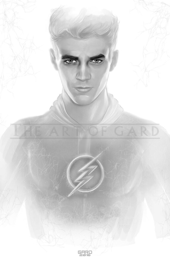 The Flash / Grant Gustin (11X17 Art Print)
