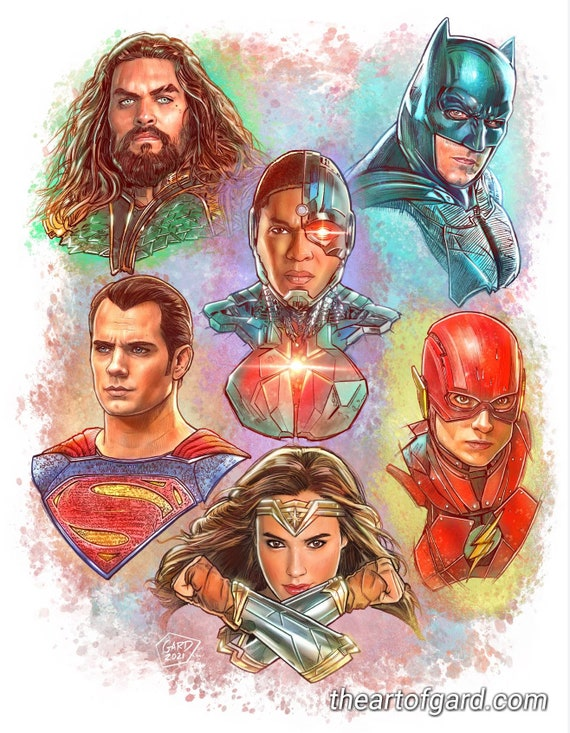 Justice League Art Print 11X14 inches