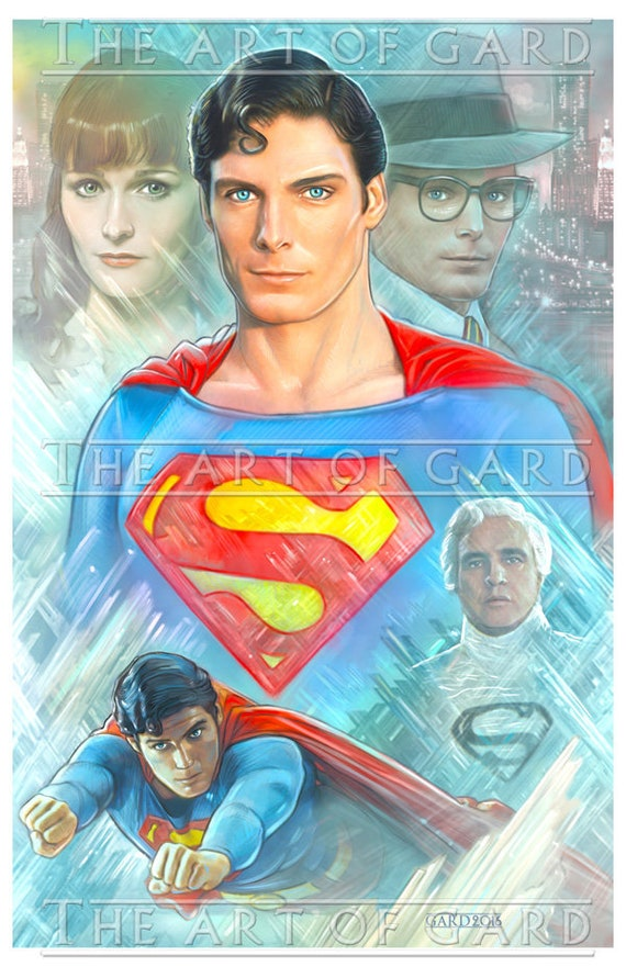 Superman The Movie, Fortress of Solitude (Collage) 11X17 Art Print