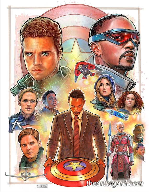 The Falcon and The Winter Soldier 11X14 Art Print