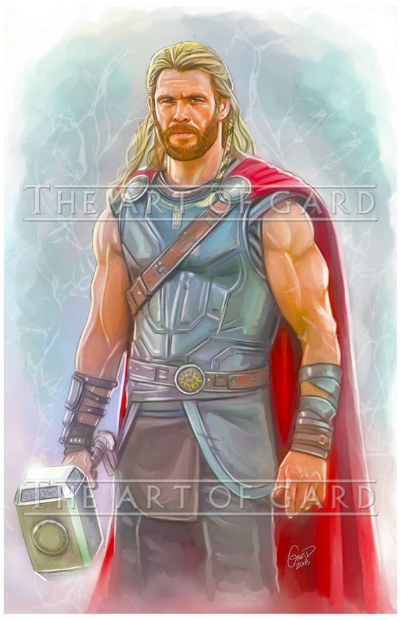 Thor The God of Thunder Portrait