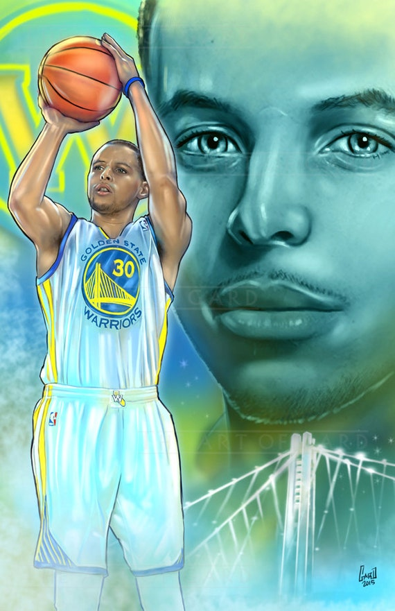 Stephen Curry Collage (digital drawing)