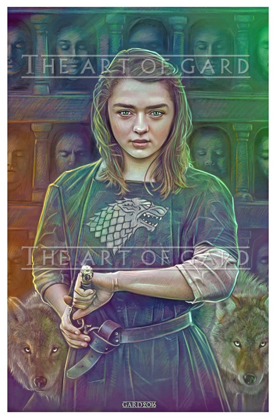 Arya Stark from Game of Thrones (11X17 high quality art print)