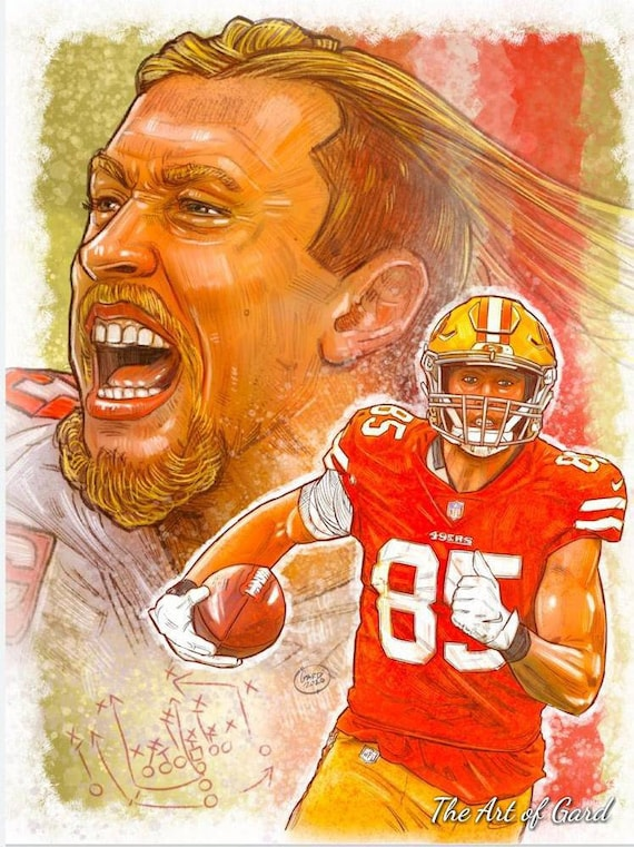 George Kittle Art Print