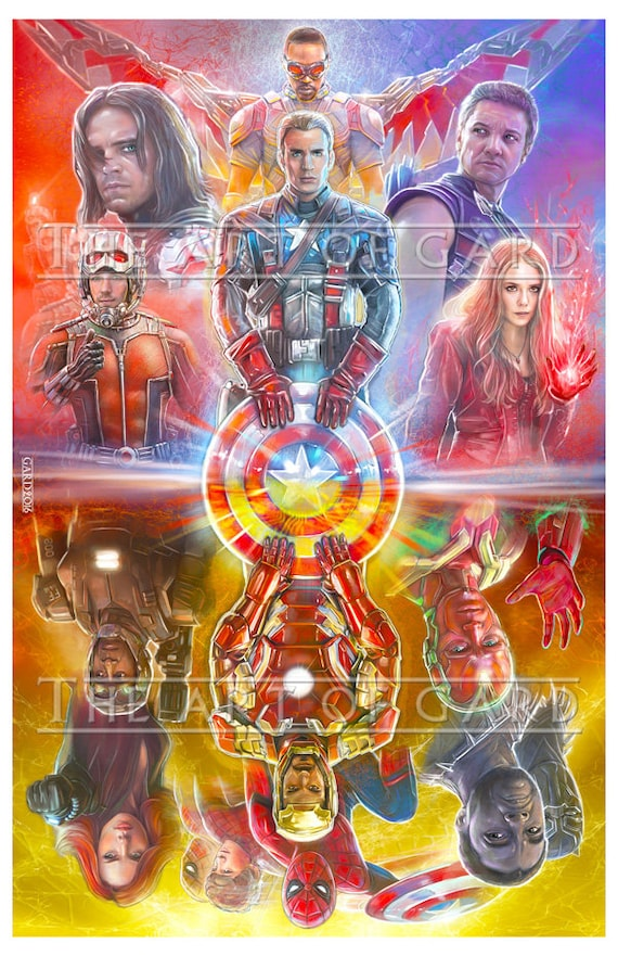 Captain America Civil War 24X36 High Quality Art Print