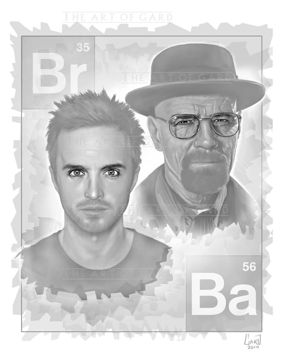 Breaking Bad 11X17 Digital Drawing (artist's print)