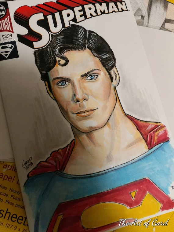 Superman Sketch Cover Featuring Christopher Reeve