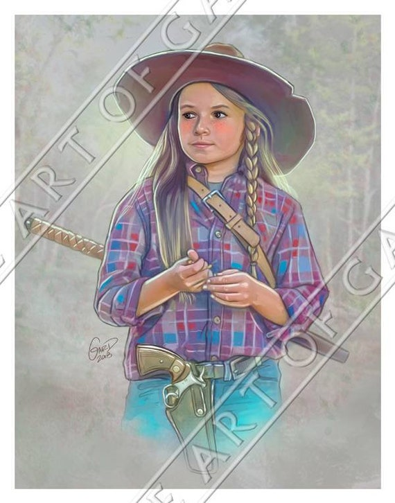 Judith Grimes from The Walking Dead 8.5X11 Signed Art Print