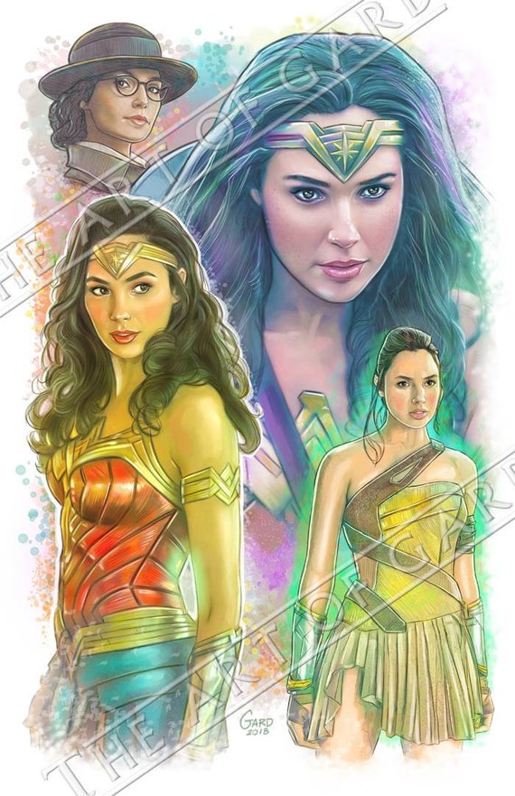 Wonder Woman (Gal Gadot) Art Print