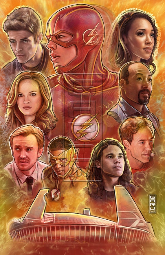 The Flash Art Collage High Quality Print