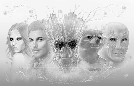 Guardians of the Galaxy (We are Groot) -Digital Drawing