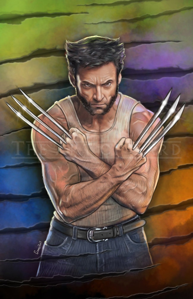 Facial wolverine hugh jack off