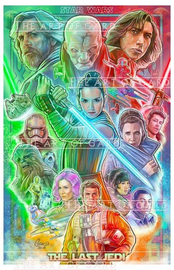 The Last Jedi Art Print