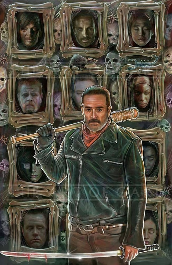 Negan, Game of Thrones Mashup Art Print 11X17