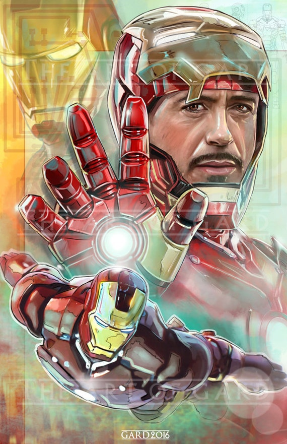 Iron Man (Tony Stark) Art Print