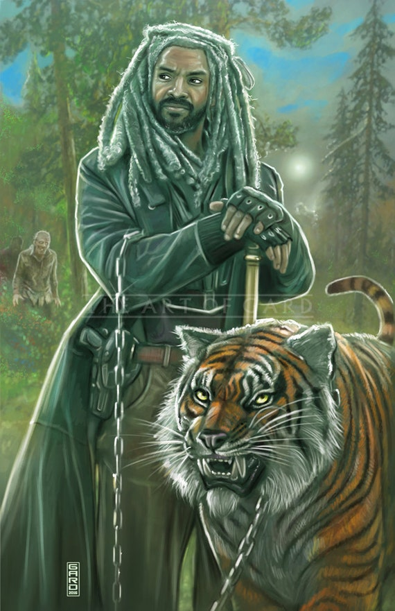 King Ezekiel. From The Walking Dead (11X17 art print)