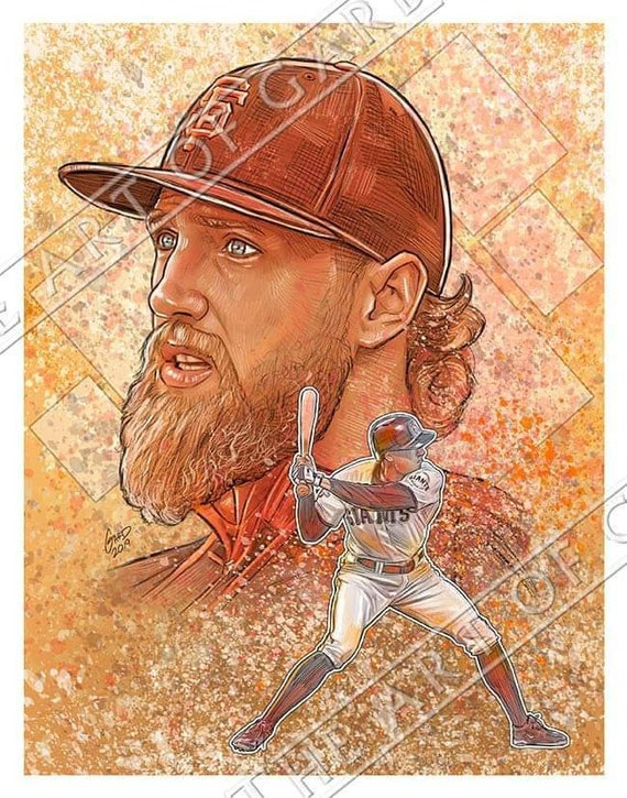 Hunter Pence Tribute Art Print
