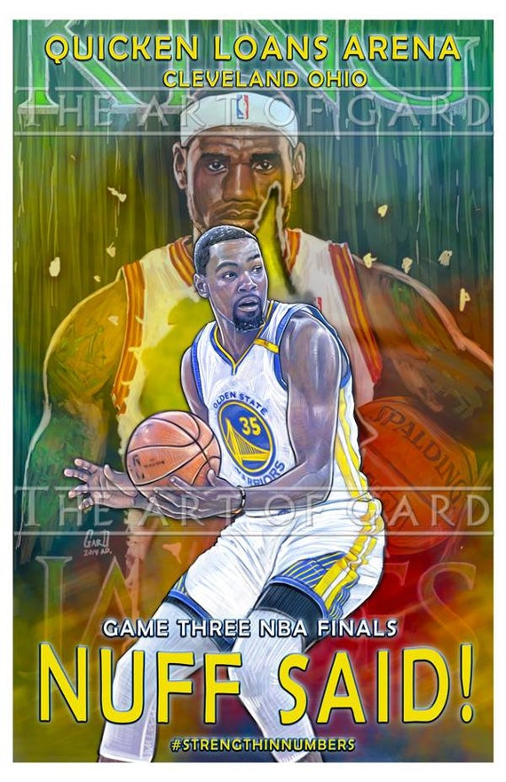 Kevin Durant Game Three NBA Finals 11X17 Art Print