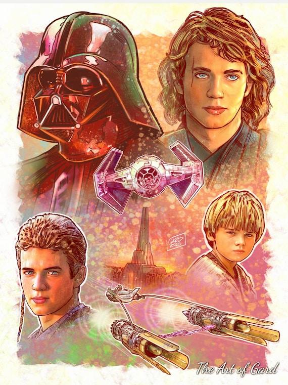 Darth Vader Evolution Art Print
