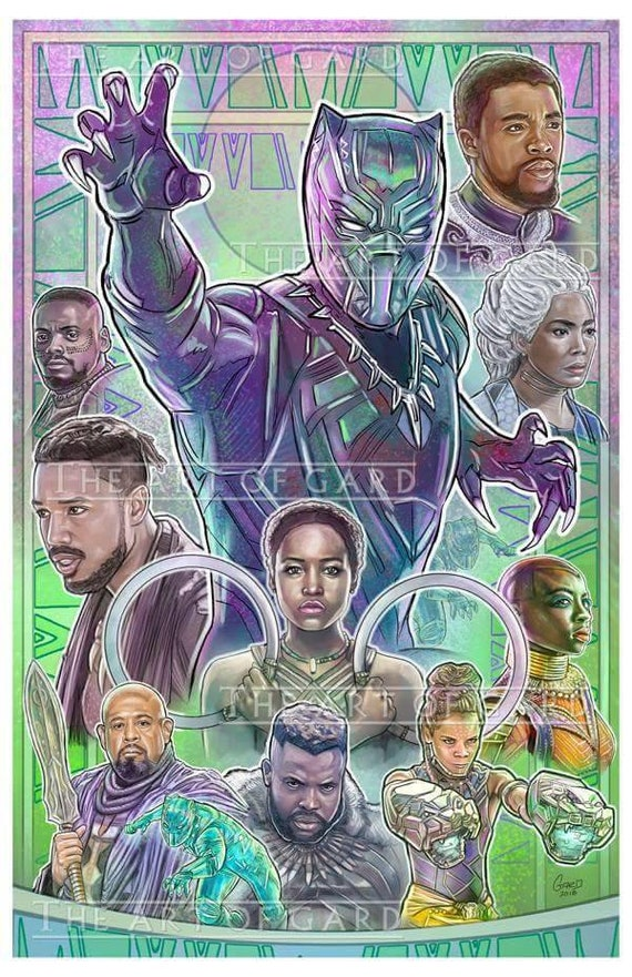 Black Panther Art Collage