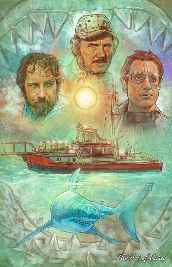 JAWS Collage 11X17 Art Print