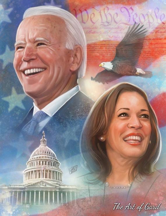 Biden & Harris Victory Print