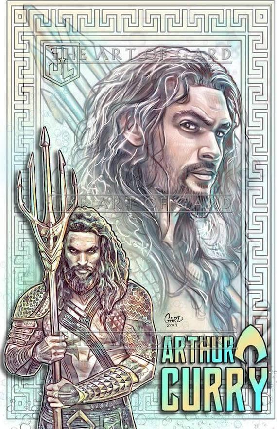 Aquaman from Justice League 11X17 Art Print