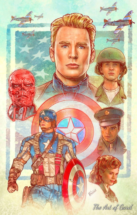 Captain America The First Avenger 11X17 Art Print
