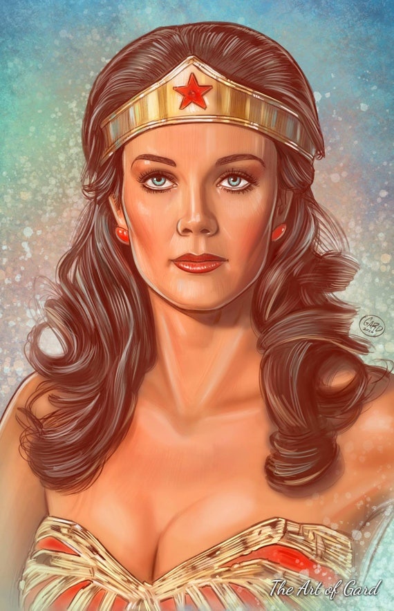Wonder Woman Lynda Carter Portrait 11X17 Art Print