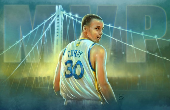 Stephen Curry 2014-15 MVP 11X17 Artist's Print